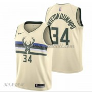 Basketball Trikot Kinder Milwaukee Bucks 2018 Giannis Antetokounmpo 34# City Swingman..