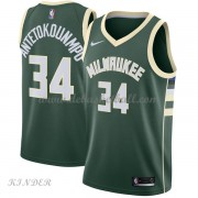 Basketball Trikot Kinder Milwaukee Bucks 2018 Giannis Antetokounmpo 34# Road Swingman..