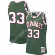 Milwaukee Bucks Basketball Trikots NBA 1970-71 Kareem Abdul-Jabbar 33# Grün Hardwood Classics Swingm..