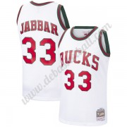 Milwaukee Bucks Basketball Trikots NBA 1971-72 Kareem Abdul-Jabbar 33# Weiß Hardwood Classics Swingm..