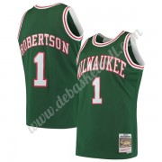 Milwaukee Bucks Basketball Trikots NBA 1971-72 Oscar Robertson 1# Grün Hardwood Classics Swingman..