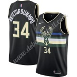 Milwaukee Bucks Basketball Trikots NBA 2019-20 Giannis Antetokounmpo 34# Schwarz Finished Statement Edition Swingman