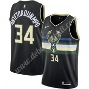 Milwaukee Bucks Basketball Trikots NBA 2019-20 Giannis Antetokounmpo 34# Schwarz Finished Statement ..