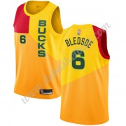 Milwaukee Bucks Basketball Trikots NBA 2019-20 Eric Bledsoe 6# Gelb City Edition Swingman..