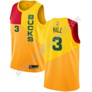 Milwaukee Bucks Basketball Trikots NBA 2019-20 George Hill 3# Gelb City Edition Swingman..
