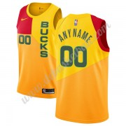Milwaukee Bucks Basketball Trikots NBA 2019-20 Gelb City Edition Swingman..
