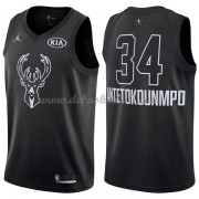 Milwaukee Bucks Basketball Trikots Giannis Antetokounmpo 34# Black 2018 All Star Game Swingman..
