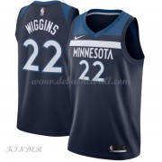 Basketball Trikot Kinder Minnesota Timberwolves 2018 Andrew Wiggins 22# Road Swingman..