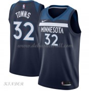 Basketball Trikot Kinder Minnesota Timberwolves 2018 Karl Anthony Towns 32# Road Swingman..
