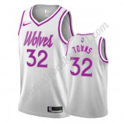 Minnesota Timberwolves Basketball Trikots NBA 2019-20 Karl-Anthony Towns 32# Weiß Earned Edition Swi..