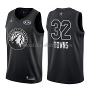Minnesota Timberwolves Basketball Trikots Karl-Anthony Towns 32# Black 2018 All Star Game Swingman..