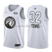 Minnesota Timberwolves Basketball Trikots Karl-Anthony Towns 32# White 2018 All Star Game Swingman..