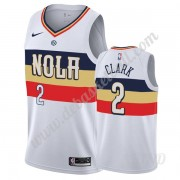 Basketball Trikot Kinder New Orleans Pelicans 2019-20 Ian Clark 2# Weiß Earned Edition Swingman..