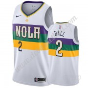 Basketball Trikot Kinder New Orleans Pelicans 2019-20 Lonzo Ball 2# Weiß City Edition Swingman..