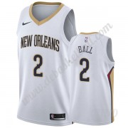 Basketball Trikot Kinder New Orleans Pelicans 2019-20 Lonzo Ball 2# Weiß Association Edition Swingma..