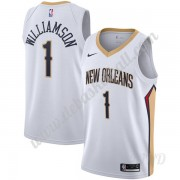 Basketball Trikot Kinder New Orleans Pelicans 2019-20 Zion Williamson 1# Weiß Association Edition Sw..