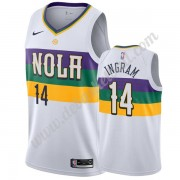 New Orleans Pelicans Basketball Trikots NBA 2019-20 Brandon Ingram 14# Weiß City Edition Swingman..