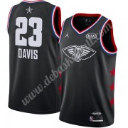 New Orleans Pelicans Basketball Trikots 2019 Anthony Davis 23# Schwarz Finished All-Star Game Swingm..