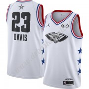 New Orleans Pelicans Basketball Trikots 2019 Anthony Davis 23# Weiß Finished All-Star Game Swingman..