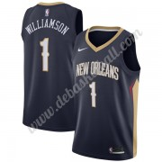 New Orleans Pelicans Basketball Trikots NBA 2019-20 Zion Williamson 1# Marine Icon Edition Swingman..