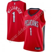 New Orleans Pelicans Basketball Trikots NBA 2019-20 Zion Williamson 1# Rot Statement Edition Swingma..