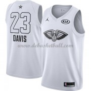 New Orleans Pelicans Basketball Trikots Anthony Davis 23# White 2018 All Star Game Swingman..