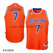 Basketball Trikot Kinder New York Knicks 2015-16 Carmelo Anthony 7# Alternate Swingman..