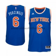 New York Knicks Basketball Trikots 2015-16 Kristaps Porzingis 6# Road Trikot Swingman..