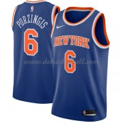 New York Knicks Basketball Trikots 2018 Kristaps Porzingis 6# Road Trikot Swingman..