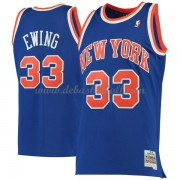 New York Knicks Mens 1991-92 Patrick Ewing 33# Blue Hardwood Classics Swingman..