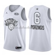 New York Knicks Basketball Trikots Kristaps Porzingis 6# White 2018 All Star Game Swingman..