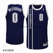 Basketball Trikot Kinder Oklahoma City Thunder 2015-16 Russell Westbrook 0# Blau Alternate Swingman