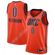 Basketball Trikot Kinder Oklahoma City Thunder 2019-20 Russell Westbrook 0# Orange Earned Edition Sw..