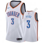 Basketball Trikot Kinder Oklahoma City Thunder 2019-20 Chris Paul 3# Weiß Association Edition Swingm..