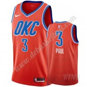 Basketball Trikot Kinder Oklahoma City Thunder 2019-20 Chris Paul 3# Orange Statement Edition Swingm..