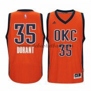 Oklahoma City Thunder Basketball Trikots 2015-16 Kevin Durant 35# Orange Alternate Trikot Swingman..
