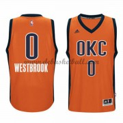 Oklahoma City Thunder Basketball Trikots 2015-16 Russell Westbrook 0# Orange Alternate Trikot Swingman