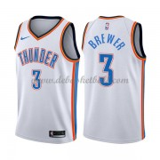 Oklahoma City Thunder Basketball Trikots 2018 Corey Brewer 3# Home Trikot Swingman..