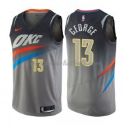 Oklahoma City Thunder Basketball Trikots 2018 Paul George 13# City Swingman..