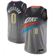 Oklahoma City Thunder Basketball Trikots 2018 Russell Westbrook 0# City Swingman..