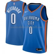 Oklahoma City Thunder Basketball Trikots 2018 Russell Westbrook 0# Road Trikot Swingman..