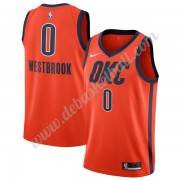 Oklahoma City Thunder Basketball Trikots NBA 2019-20 Russell Westbrook 0# Orange Earned Edition Swin..