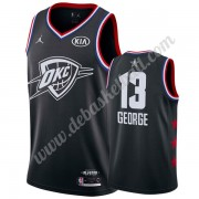 Oklahoma City Thunder Basketball Trikots 2019 Paul George 13# Schwarz All Star Game Swingman..