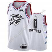 Oklahoma City Thunder Basketball Trikots 2019 Russell Westbrook 0# Weiß All Star Game Swingman..