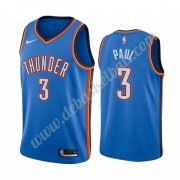 Oklahoma City Thunder Basketball Trikots NBA 2019-20 Chris Paul 3# Blau Icon City Edition Swingman..