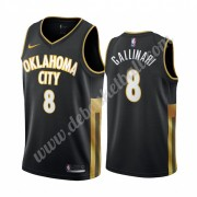 Oklahoma City Thunder Basketball Trikots NBA 2019-20 Danilo Gallinari 8# Schwarz City Edition Swingm..