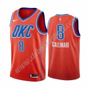 Oklahoma City Thunder Basketball Trikots NBA 2019-20 Danilo Gallinari 8# Orange Statement Edition Sw..