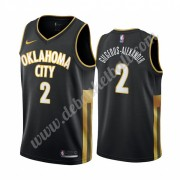 Oklahoma City Thunder Basketball Trikots NBA 2019-20 Shai Gilgeous-Alexander 2# Schwarz City Edition..