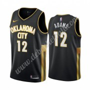 Oklahoma City Thunder Basketball Trikots NBA 2019-20 Steven Adams 12# Schwarz City Edition Swingman..