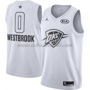 Oklahoma City Thunder Basketball Trikots Russell Westbrook 0# White 2018 All Star Game Swingman..